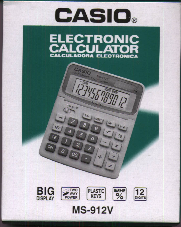 Калькулятор Casio FX-85ESPLUS двойное питание 12 разряда научный 252 функций черный